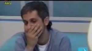 گریه جواد رضویان در برنامه زنده