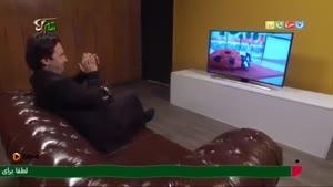 پشت صحنه اجرای اشکان خطیبی و علی لک پوریان در مسابقه لباهنگ