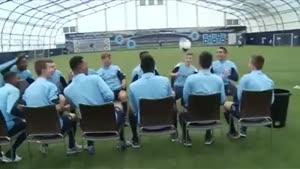حرکت جالب بازیکن های فوتبال