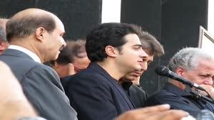 همایون شجریان در مراسم ختم پرویز مشکاتیان