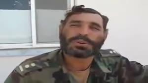سرباز افغان و تمرین زبان انگلیسی