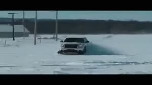 رانندگی در یخ به شیوه جدید