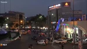میدان آزادی و رستوران سنتی در سنندج