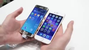مقایسه سرعت iphone ۶ و galaxy s۶ edge