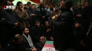 تشییع پیکر شهید مدافع حرم؛ حمیدرضا زمانی