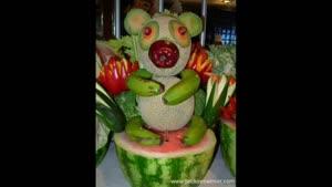 میوه آرایی بسیار زیبا برای شب یلدا