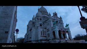 تایم لپس تماشایی از کلیسای مونتمارتر در پاریس ۴k