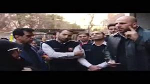 حسینی آتشنشان و عضو تیم ملی راگبی مقابل شورای شهر.از۲متر آدم ۱۰کیلو باقی موند...