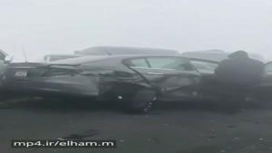تصادف زنجیرهای ۱۵۰ اتومبیل در اتوبان ابوظبی