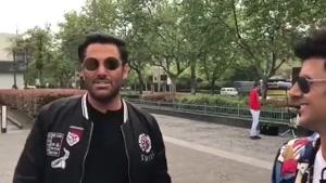 رضاگلزار و امین حیایی در پشت صحنه ساخت ایران2