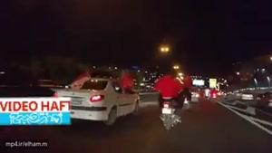 جشن پرسپولیسی ها در بزرگراه های تهران