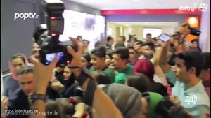 هجوم مردم و هواداران, برای گرفتن عکس با سحر قریشی!