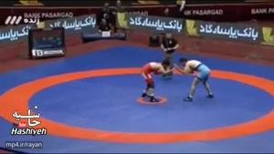 حرکت جوانمردانه و فوق العاده حنیف باقرزاده مقابل حسن یزدانی قهرمان المپیک