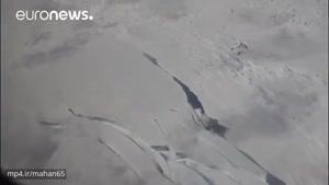 ویدئویی جالب از تشکیل یک کوه یخ عظیم در قطب جنوب
