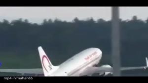 چند هواپیما که هنگام تیک آف آتش گرفتند