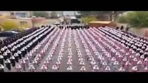 اجرای گروهی در مدرسه ی دخترانه به یاد مرتضی پاشایی