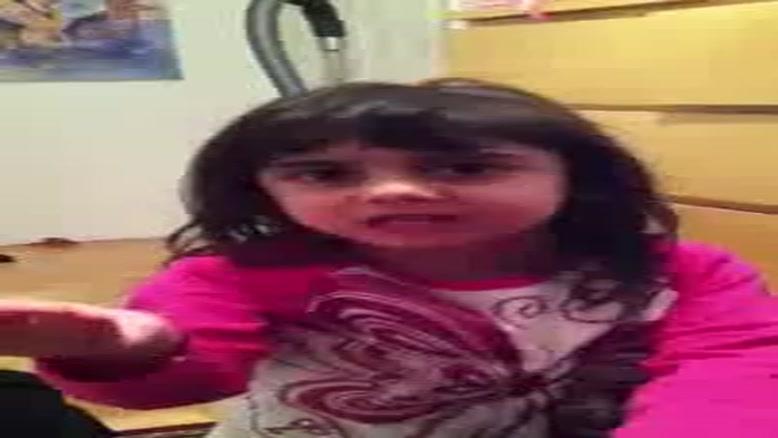 دخترک شیرین زبون و ماجرای فیلم ترسناک!!!!!!!