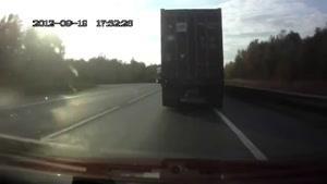 راننده کامیون بی احتیاط