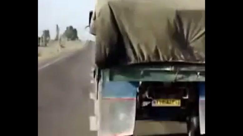 چپ شدن کامیون