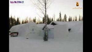 تنها دهکده برفی جهان