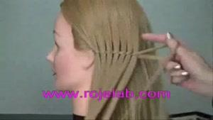 آموزش بافت مو به  صورت هلالی