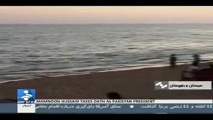 موج سواری دختر ایرلندی در سواحل چابهار