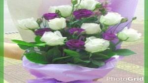 ترکیب زیبای نقاشی و گل