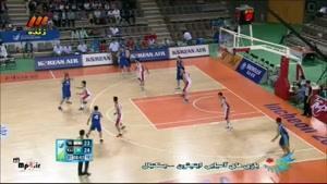 بسکتبال - ایران ۸۰ - ۷۸ قزاقستان - کوارتر دوم