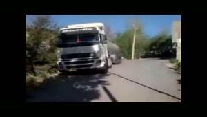 مهارت عجیب یک راننده تریلی