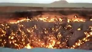 دیدنی های جهان- دروازه جهنم در ترکمنستان
