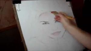 نقاشی حرفه ای چهره