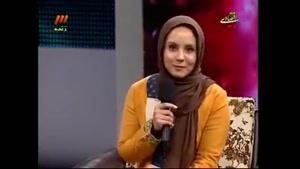 دختر اکبر عبدی در برنامه ی زنده