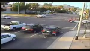 تصادف شدید پشت چراغ قرمز