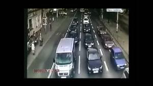 تصادف زنجیره ای در ترافیک