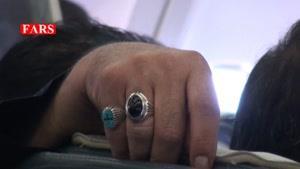 عزاداری عاشقان امام حسین(ع) در هواپیما