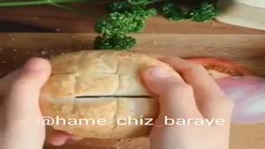پیتزا با نون همبرگری