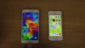 مقایسه گلکسی اس ۵ با ایفون ۵s