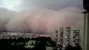 زمان اولیه باد و طوفان،تهران