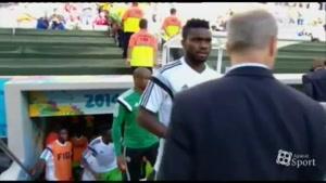 لحظاتی قبل از شروع بازی ایران - نیجریه