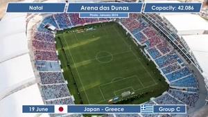 نمای کامل استادیوم ۲۰۱۴ برزیل