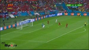 اسپانیا ۰ - ۲ شیلی