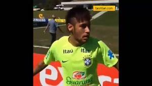 دوحرکت تکنیکی نیمار در تمرینات برزیل