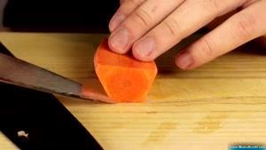 تزئین با خیار و هویج