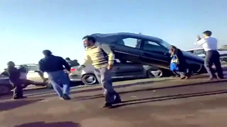 تصادف در اتوبان قم تهران