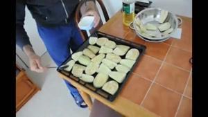 سرخ کردن بادمجان در سه سوت بدون روغن