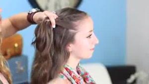 آموزش بافت موی دم ماهی توری