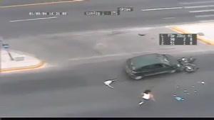 حادثه جالب ترافیکی!!