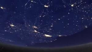 چگونه دیده شدن کره زمین در شب از فضا