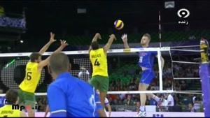 برزیل ۳ -ایتالیا ۰ ست سوم لیگ جهانی ۲۰۱۴