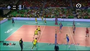 برزیل ۳ - روسیه ۱ - ست چهار در لیگ جهانی